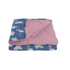 """Одеяло """"WASHED COTTON"""" 150*210 см  Розовый фламинго (комбинированный)"""