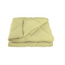 """Одеяло """"Alaska"""" Washed Cotton 200*210 см Жовто-Шоколадний темний (комбінований)"""
